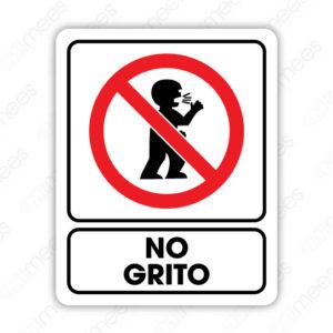 SRO 042 Señalamiento No Grito (Niños)