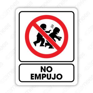 SRO 043 Señalamiento No Empujo (Niños)