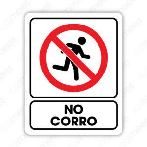 SRO 044 Señalamiento No Corro (Adultos)