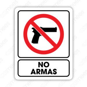 SRO 049 Señalamiento No Armas