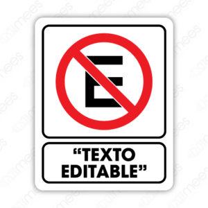 SRO 054 Señalamiento No Estacionarse Texto Editable