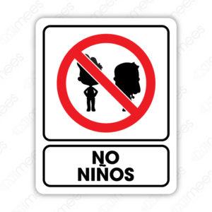 SRO 060 Señalamiento No Niños