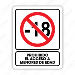 SRO 062 Señalamiento Prohibido el Acceso a Menores de Edad