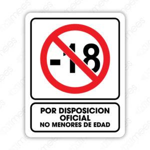 SRO 063 Señalamiento Por Disposición Oficial No Menores de Edad