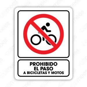 SRO 064 Señalamiento Prohibido el Paso Bicicletas y Motos