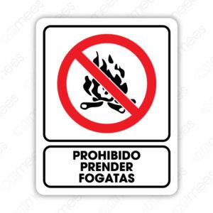 SRO 067 Señalamiento Prohibido Prender Fogatas