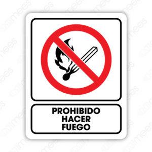 SRO 068 Señalamiento Prohibido Hacer Fuego