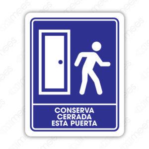 SIN 016 Señalamiento Conserva Cerrada Esta Puerta
