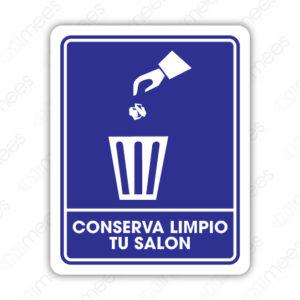 SIN 022 Señalamiento Conserva Limpio Tu Salón