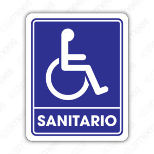 SIN 036 Señalamiento Sanitario Discapacitados