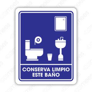SIN 041 Señalamiento Conservar Limpio este Baño