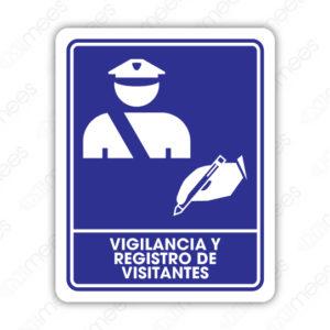 SIN 046 Señalamiento Vigilancia y Registro a Visitantes