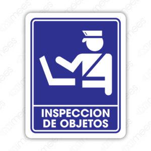 SIN 058 Señalamiento Inspección de Objetos
