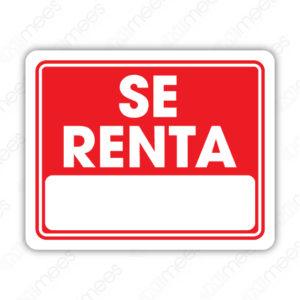 SIN 066 Señalamiento Se Renta