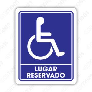 SIN 068 Señalamiento Lugar Reservado