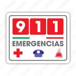 SIN 070 Señalamiento 911 Emergencias