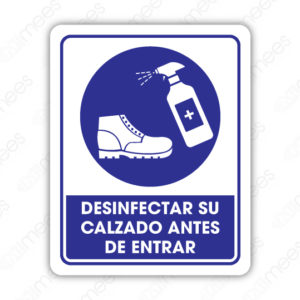 SCD 020 Señalamiento Desinfectar su Calzado Antes de Entrar