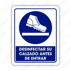SCD 027 Señalamiento Desinfectar su Calzado Antes de Entrar