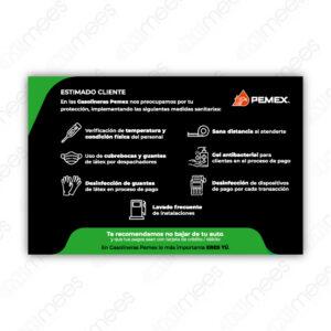 PMX-SEST-001 Señalamiento Medidas Sanitarias Horizontal
