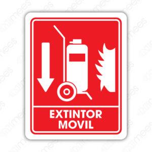 SCI 030 Señalamiento Extintor Móvil