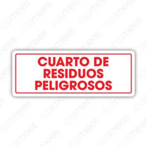 SES 086 Señalamiento Cuarto de Residuos Peligrosos
