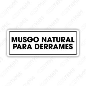 SES 088 Señalamiento Musgo Natural Para Derrames