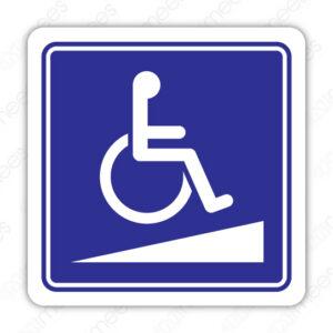 SIN 082 Señalamiento Discapacitados Rampa