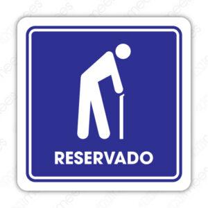 SIN 085 Señalamiento Reservado Adultos Mayores