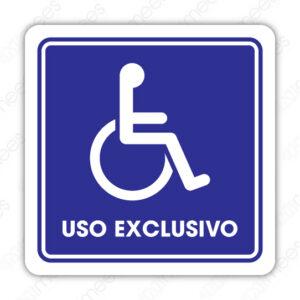SIN 087 Señalamiento Uso Exclusivo Discapacitados