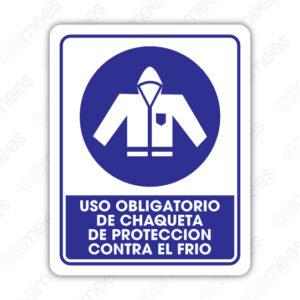 SOB 037 Señalamiento Uso Obligatorio de Chaqueta de Protección Contra el Frío