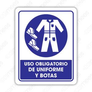 SOB 039 Señalamiento Uso Obligatorio de Uniforme y Botas