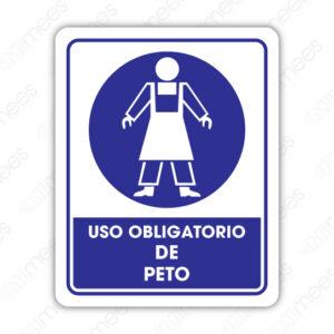 SOB 040 Señalamiento Uso Obligatorio de Peto