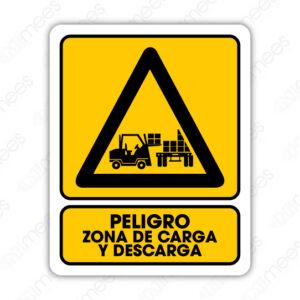 SPR 037 Señalamiento Peligro Zona de Carga y Descarga (Monta Cargas)