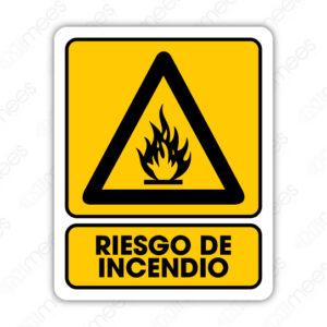 SPR 081 Señalamiento Riesgo de Incendio