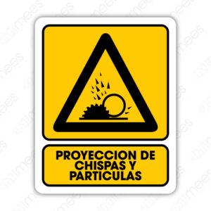 SPR 083 Señalamiento Proyección de Chispas y Partículas