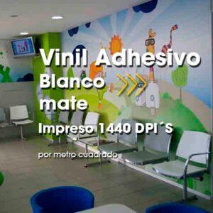 SPU-004 Impresión Digital en Vinil Adhesivo Blanco Mate Alta Resolución
