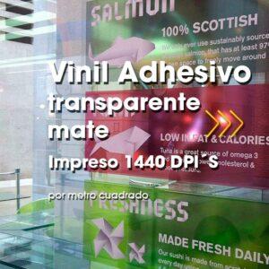 SPU-006 Impresión Digital en Vinil Adhesivo Transparente Mate Alta Resolución