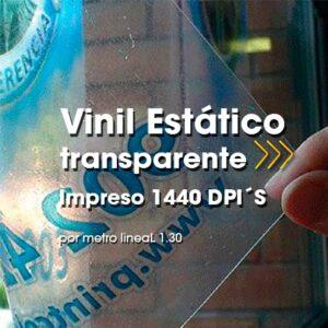SPU-008 Impresión Digital en Vinil Estático Transparente Alta Resolución