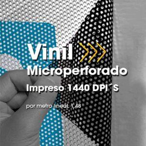 SPU-009 Impresión Digital en Vinil Microperforado Alta Resolución