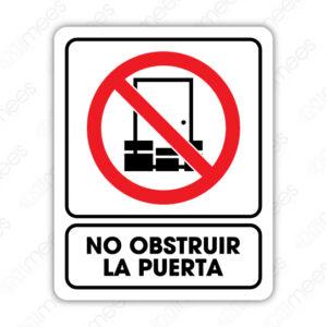 SRO 076 Señalamiento No Obstruir Esta Puerta