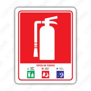 SCI 031 Señalamiento Tipos de Fuego