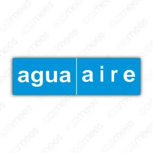 SES 036 Señalamiento Agua-Aire