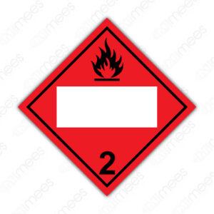 SRS 005 Rombo Clase 2 Gases Comprimidos, Refrigerados, Licuados o Disueltos a Presión
