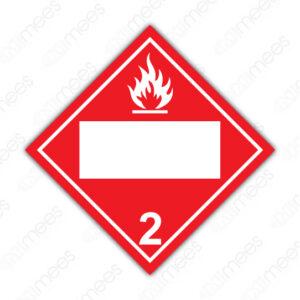 SRS 006 Rombo Clase 2 Gases Comprimidos, Refrigerados, Licuados o Disueltos a Presión
