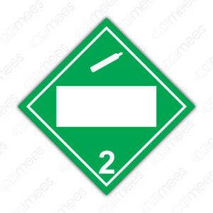 SRS 007 Rombo Clase 2 Gases Comprimidos, Refrigerados, Licuados o Disueltos a Presión