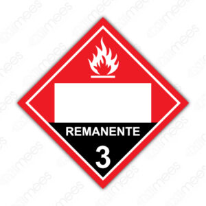 SRS 011 Rombo Clase 3 Líquidos Inflamables Remanente