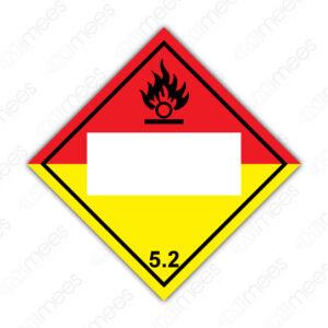 SRS 018 Rombo Clase 5 Oxidantes y Peróxidos Orgánicos