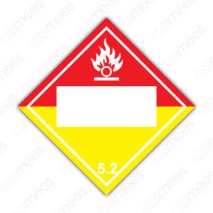 SRS 019 Rombo Clase 5 Oxidantes y Peróxidos Orgánicos