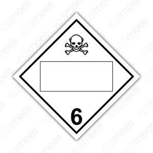 SRS 020 Rombo Clase 6 Tóxicos Agudos (Veneno) y Agentes Biológicos Infecciosos