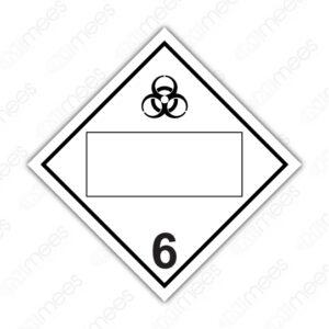SRS 021 Rombo Clase 6 Tóxicos Agudos (Veneno) y Agentes Biológicos Infecciosos